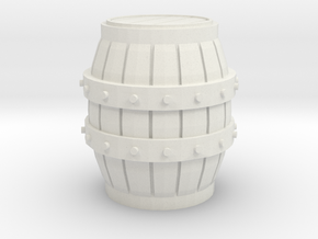 HO scale barrel in White Natural Versatile Plastic