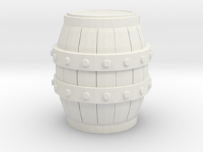 G Scale Barrel in White Natural Versatile Plastic