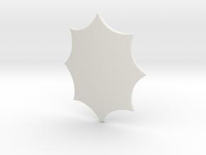 Elaborate Lozenge (Plain) in White Natural Versatile Plastic: Small