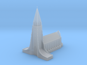 Neogothic cathedral Hallgrimskirkja in Smooth Fine Detail Plastic: 1:500