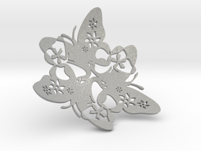 Butterfly Bowl 1 - d=16cm in Aluminum