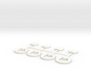 Fuel Tank  Cover 12mm X4 in White Processed Versatile Plastic