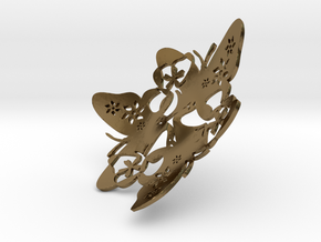 Butterfly Bowl 1 - d=8cm in Polished Bronze