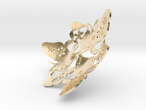 Butterfly Bowl 1 - d=8cm in 14k Gold Plated Brass