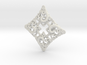 Ko4 pendant in White Natural Versatile Plastic