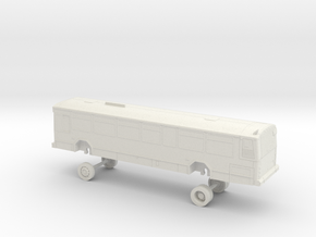 HO Scale Bus Gillig Phantom Westcat 111 in White Natural Versatile Plastic