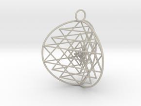 3D Sri Yantra 3 Sided Symmetrical in Natural Sandstone
