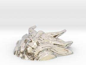 Earth Goddess Short Version in Rhodium Plated Brass