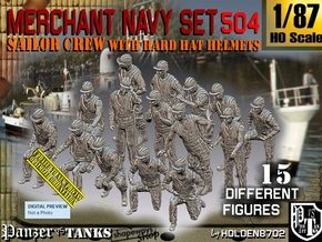 1/87 Merchant Navy Set504 in Smooth Fine Detail Plastic