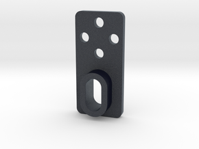 CNC sensor bracket 5mm stand-off in Black Professional Plastic