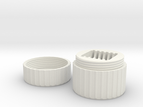 SD Card Case in White Natural Versatile Plastic