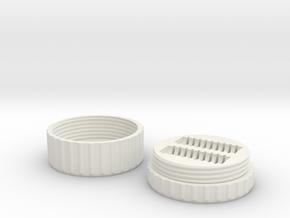 MicroSD Card Case in White Natural Versatile Plastic