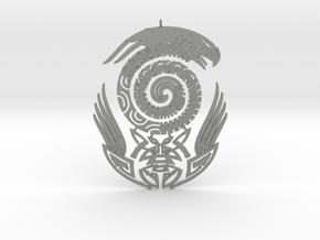Maori snake bird tattoo Pendant in Gray PA12