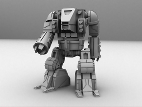 HeadLess Mecha 1/285 6mm in White Natural Versatile Plastic