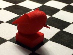 Rook-shaped Rook in Red Processed Versatile Plastic
