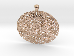 VENA011 Pendant in 14k Rose Gold Plated Brass