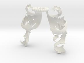 Mantling 07 - Boscage (Symmetrical) in White Natural Versatile Plastic: Small