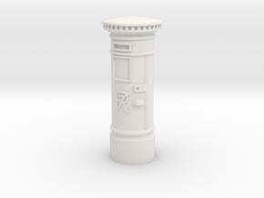 35mm/O Gauge Post Box in White Natural Versatile Plastic
