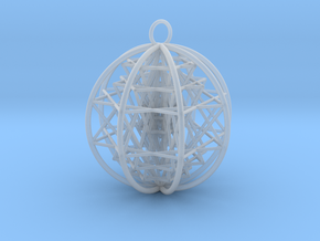 3D Sri Yantra 8 Sided Optimal   in Smooth Fine Detail Plastic