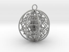 3D Sri Yantra 8 Sided Symmetrical in Aluminum