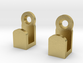 Light Switch Plate Hooks in Natural Brass