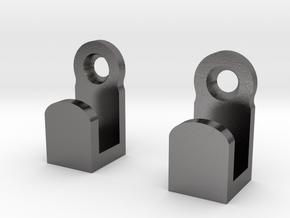 Light Switch Plate Hooks in Polished Nickel Steel