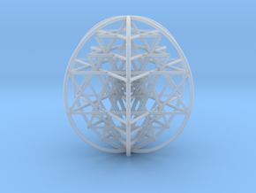 3D Sri Yantra 6 Sided Optimal Large in Smooth Fine Detail Plastic