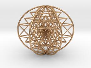 "3D Sri Yantra 6 Sided Symmetrical 3"" in Natural Bronze"