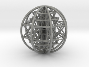 3D Sri Yantra 8 Sided Optimal Large in Gray Professional Plastic