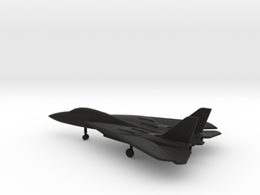 Grumman F-14 Tomcat (swept wings) in Black Natural Versatile Plastic: 6mm