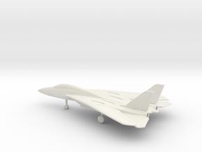 Grumman F-14 Tomcat (swept wings) in White Natural Versatile Plastic: 1:200