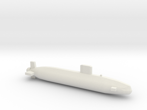 Swiftsure-class SSN, Full Hull, 1/1800 in White Natural Versatile Plastic