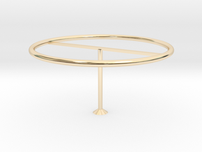 Modern lampshade in 14K Yellow Gold: Medium