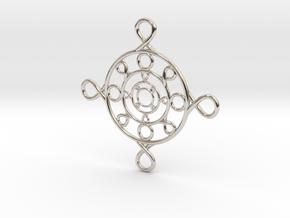 Recursive Pendant in Rhodium Plated Brass