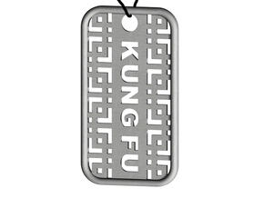 Kung Fu Dog Tag in Stainless Steel