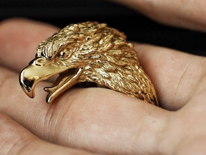 Eagle Ring in Polished Brass: 7 / 54