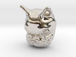 French Bulldog Lapel Pin in Rhodium Plated Brass