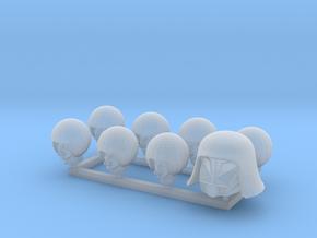 Faux Troopers 7x and Dark Wizard Big Helmet Hero 1 in Smooth Fine Detail Plastic