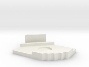 Sawtooth storage box in White Natural Versatile Plastic