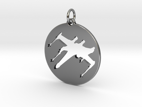 X-Wing Pendant  in Antique Silver