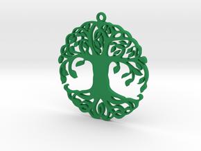 Pendent in Green Processed Versatile Plastic