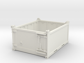 10 ft half high offshore container - 1:50 in White Natural Versatile Plastic