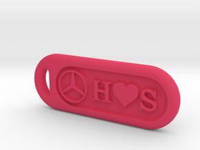 BenZ keychain  in Pink Processed Versatile Plastic