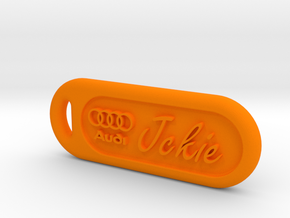 Audi keychain in Orange Processed Versatile Plastic