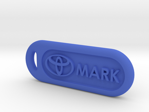 toyota keychain in Blue Processed Versatile Plastic