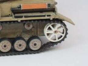 Panzer IV Tubular Idler Wheels x2 - 1:18 - v1.1 in White Processed Versatile Plastic