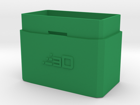 30mm Extension for MP5 PEQ Battery Box in Green Processed Versatile Plastic