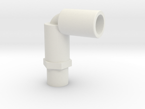 legris elbow for Ghostbusters Proton pack in White Natural Versatile Plastic
