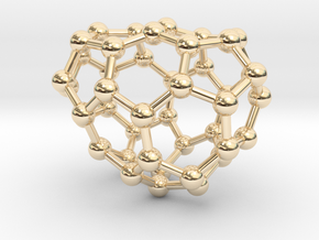 0672 Fullerene c44-44 c1 in 14k Gold Plated Brass