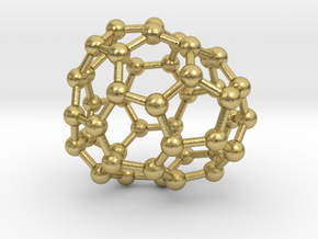 0675 Fullerene c44-47 c1 in Natural Brass